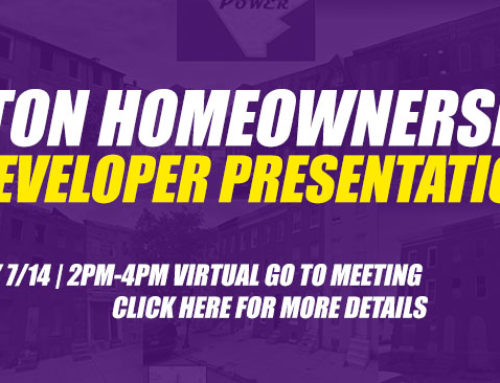 Upton Home Ownership Developer Presentations